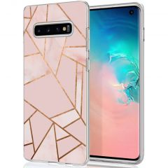 iMoshion Cover Design Samsung Galaxy S10 - Pink Graphic
