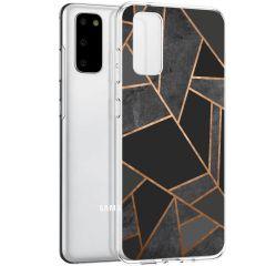 iMoshion Cover Design Samsung Galaxy S20 - Black Graphic