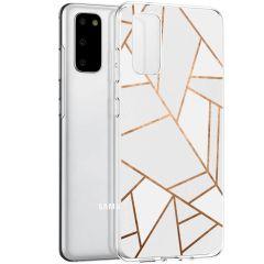 iMoshion Cover Design Samsung Galaxy S20 - White Graphic