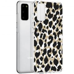 iMoshion Cover Design Samsung Galaxy S20 - Golden Leopard