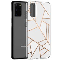 iMoshion Cover Design Samsung Galaxy S20 Plus - White Graphic