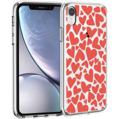iMoshion Cover Design iPhone Xr - Full of Hearts Red