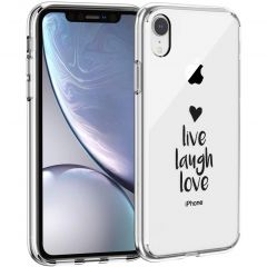 iMoshion Cover Design iPhone Xr - Live Laugh Love