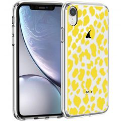 iMoshion Cover Design iPhone Xr - Design Leopard Yellow