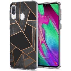 iMoshion Cover Design Samsung Galaxy A20e - Black Graphic