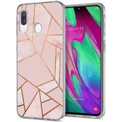 iMoshion Cover Design Samsung Galaxy A20e - Pink Graphic