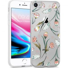 iMoshion Cover Design iPhone SE (2020) / 8 / 7 / 6s - Vintage Flowers