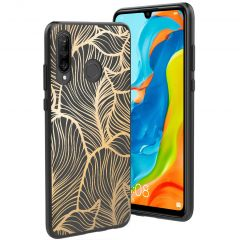 iMoshion Cover Design Huawei P30 Lite - Golden Leaves