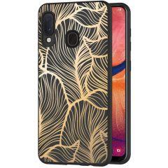 iMoshion Cover Design Samsung Galaxy A20e - Golden Leaves