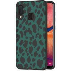 iMoshion Cover Design Samsung Galaxy A20e - Green Leopard