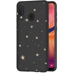 iMoshion Cover Design Samsung Galaxy A20e - Stars Gold