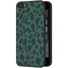iMoshion Cover Design iPhone 5 / 5s / SE - Green Leopard