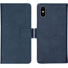 iMoshion Custodia Portafoglio de Luxe iPhone Xs / X - Blu scuro