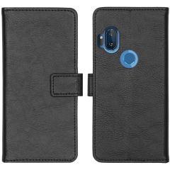 iMoshion Custodia Portafoglio de Luxe Motorola One Hyper - Nero