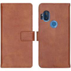 iMoshion Custodia Portafoglio de Luxe Motorola One Hyper - Marrone