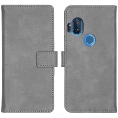 iMoshion Custodia Portafoglio de Luxe Motorola One Hyper - Grigio