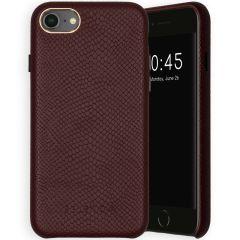 Selencia Gaia Cover Snake iPhone SE (2020) / 8 / 7 / 6(s) - Rosso scuro