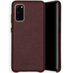 Selencia Gaia Cover Snake Samsung Galaxy S20 - Rosso scuro