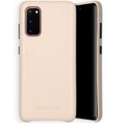 Selencia Gaia Cover Snake Samsung Galaxy S20 - Bianco