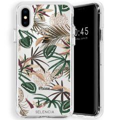 Selencia Zarya Cover Fashion Extra Protettiva iPhone Xs / X - Jungle Leaves
