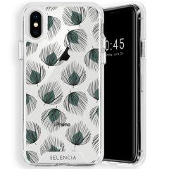 Selencia Zarya Cover Fashion Extra Protettiva iPhone Xs / X - Feathers