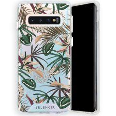 Selencia Zarya Cover Fashion Extra Protettiva Samsung Galaxy S10 - Jungle Leaves