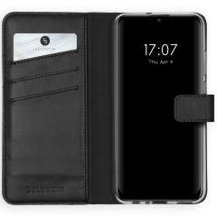 Selencia Custodia Portafoglio in Vera Pelle Huawei P Smart (2020) - Nero