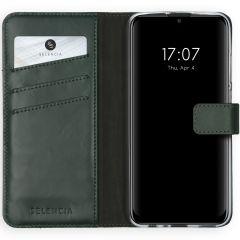 Selencia Custodia Portafoglio in Vera Pelle Huawei P Smart (2020) - Verde