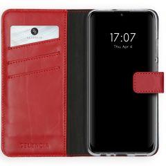 Selencia Custodia Portafoglio in Vera Pelle Huawei P Smart (2020) - Rosso