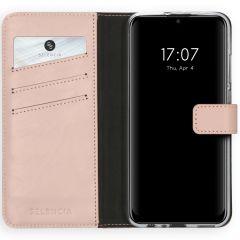 Selencia Custodia Portafoglio in Vera Pelle Huawei P Smart (2020) - Rosa