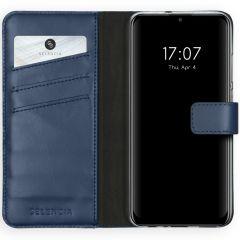 Selencia Custodia Portafoglio in Vera Pelle Huawei P Smart (2020) - Blu