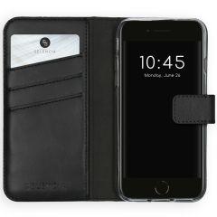Selencia Custodia Portafoglio in Vera Pelle iPhone SE (2020) / 8 / 7 / 6(s) - Nero