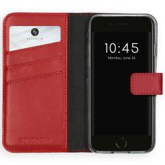Selencia Custodia Portafoglio in Vera Pelle iPhone SE (2020) / 8 / 7 / 6(s) - Rosso