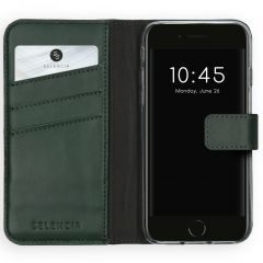 Selencia Custodia Portafoglio in Vera Pelle iPhone SE (2020) / 8 / 7 / 6(s) - Verde
