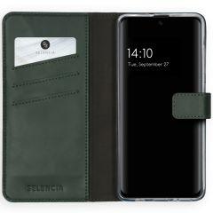 Selencia Custodia Portafoglio in Vera Pelle Samsung Galaxy A51 - Verde