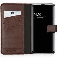 Selencia Custodia Portafoglio in Vera Pelle Samsung Galaxy A51 - Marrone