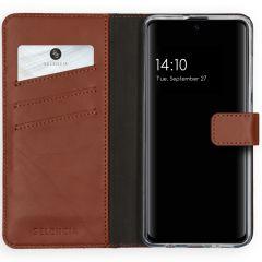 Selencia Custodia Portafoglio in Vera Pelle Samsung Galaxy A51 - Marrone chiaro