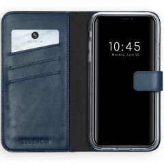 Selencia Custodia Portafoglio in Vera Pelle iPhone Xr - Blu