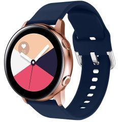iMoshion Cinturino in Silicone Galaxy Watch 40/42mm / Active 2 42/44mm / Watch 3 41mm - Blu scuro