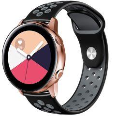 iMoshion Cinturino sportivo in Silicone Galaxy Watch 40/42mm / Active 2 42/44mm / Watch 3 41mm - Nero