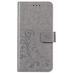 Custodia Portafoglio Fiori di Trifoglio Samsung Galaxy A31 - Grigio