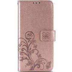Custodia Portafoglio Fiori di Trifoglio Samsung Galaxy A31 - Rosa