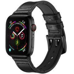 iMoshion Cinturino in Vera Pelle Apple Watch Series 1 t/m 6 / SE - 38/40mm - Nero