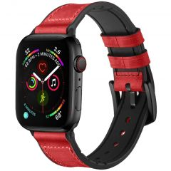 iMoshion Cinturino in Vera Pelle Apple Watch Series 1 t/m 6 / SE - 42/44mm - Rosso