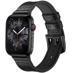 iMoshion Cinturino in Vera Pelle Apple Watch Series 1 t/m 6 / SE - 42/44mm - Nero