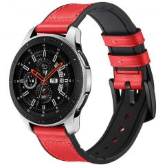 iMoshion Cinturino in Vera Pelle Watch 46mm / Gear S3 Frontier / Classic / Watch 3 45mm - Rosso