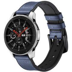 iMoshion Cinturino in Vera Pelle Watch 46mm / Gear S3 Frontier / Classic / Watch 3 45mm - Blu