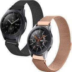 iMoshion Milanese Cinturino Multipack Watch 46/Gear S3 Frontier/Classic/Watch 3 45 - Nero / Rosa ora