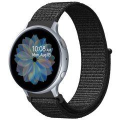 iMoshion Cinturino in nylon Samsung Galaxy Watch 40/42mm / Active 2 42/44mm / Watch 3 41mm - Nero