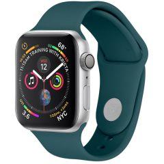iMoshion Cinturino in Silicone Apple Watch Series 1 t/m 6 / SE - Verde scuro